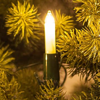 Lyskæde med små lyspærer, hvid, 30 lyskilder