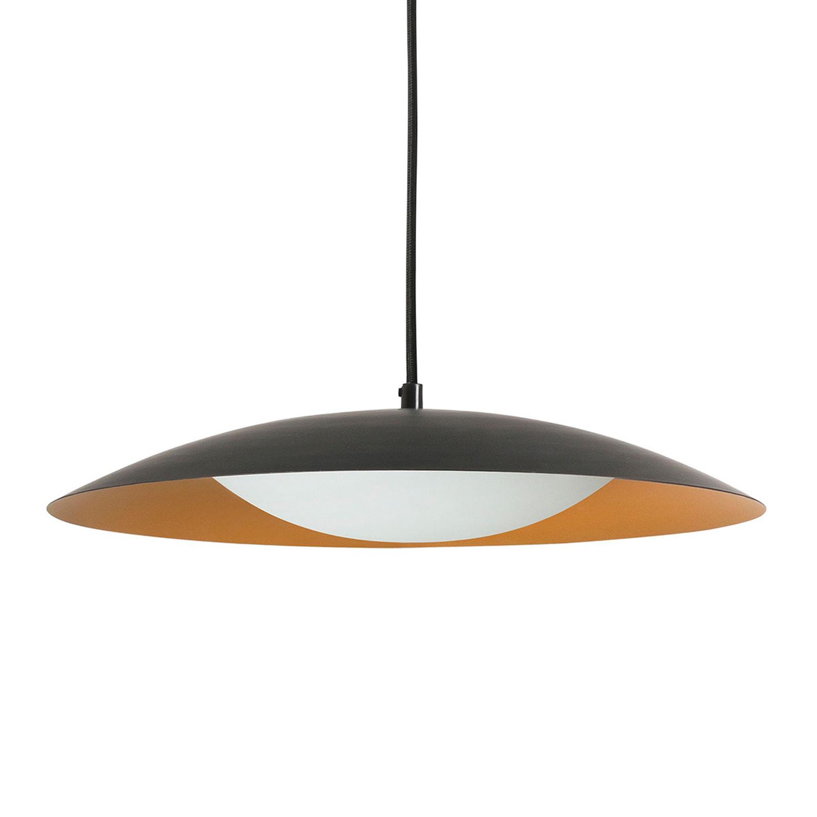 Suspension LED Slim, 1lampe en noir-doré