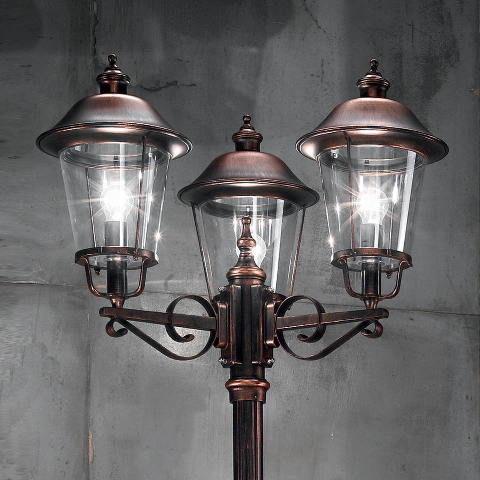 Mariella buitenlantaarn 3-lamps