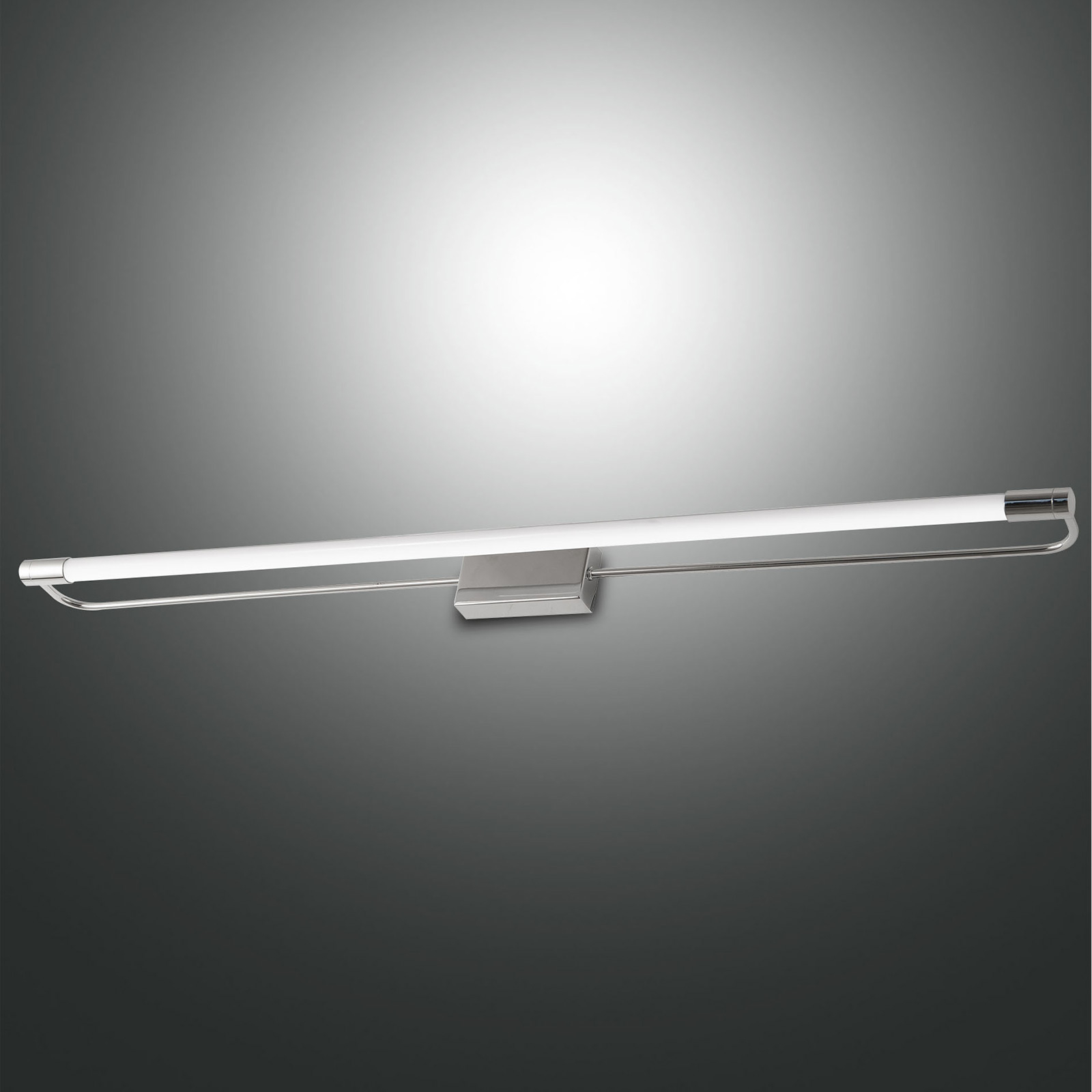 LED wandlamp Rapallo, chroom, IP44, 80 cm