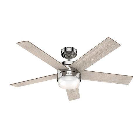 Hunter Claudette ventilador con luz roble/níquel