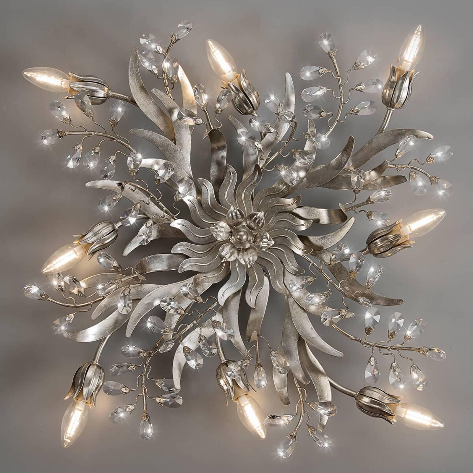 Styl florencki, lampa sufitowa Sara, 8-punktowa