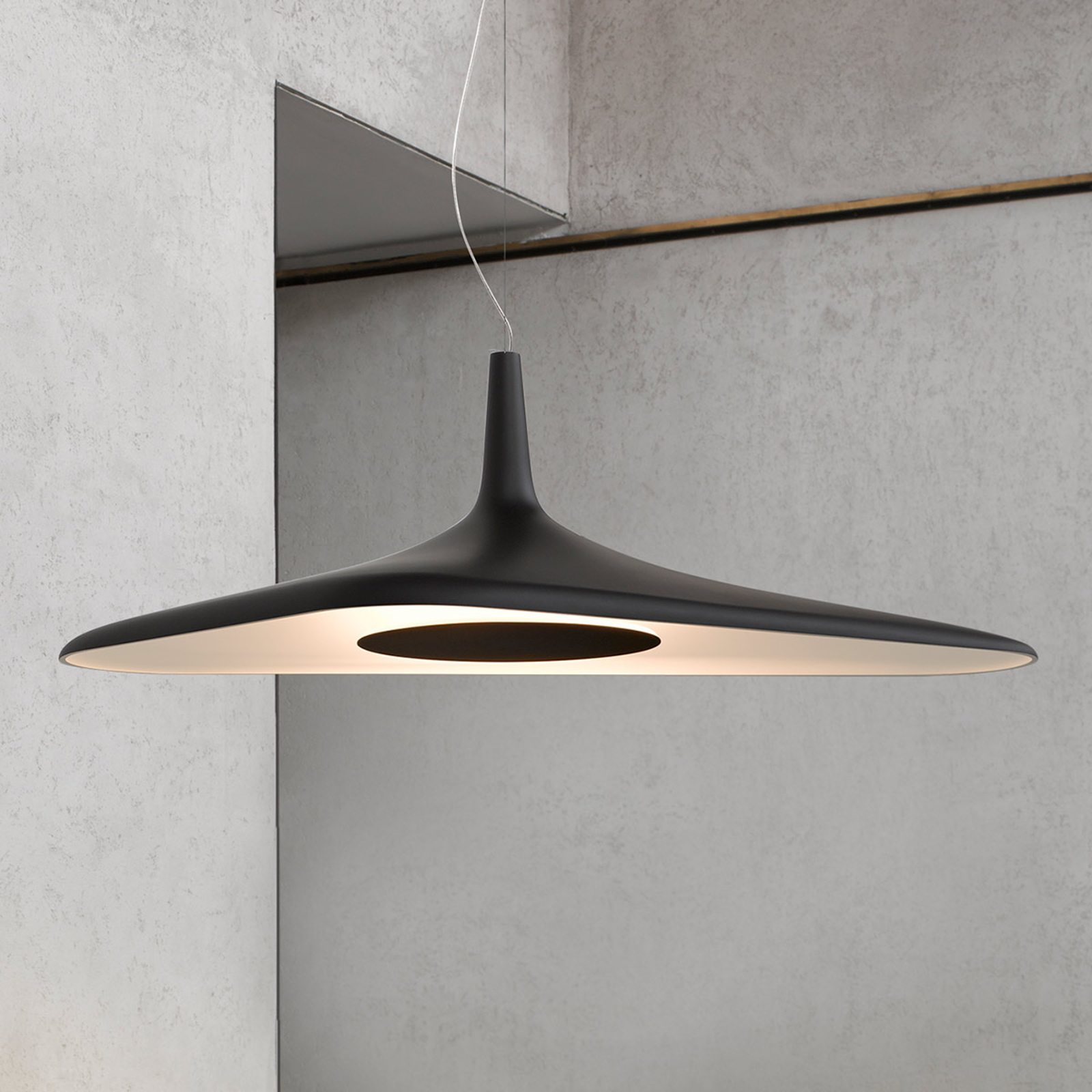 Futurystyczna lampa wisząca LED Soleil Noir