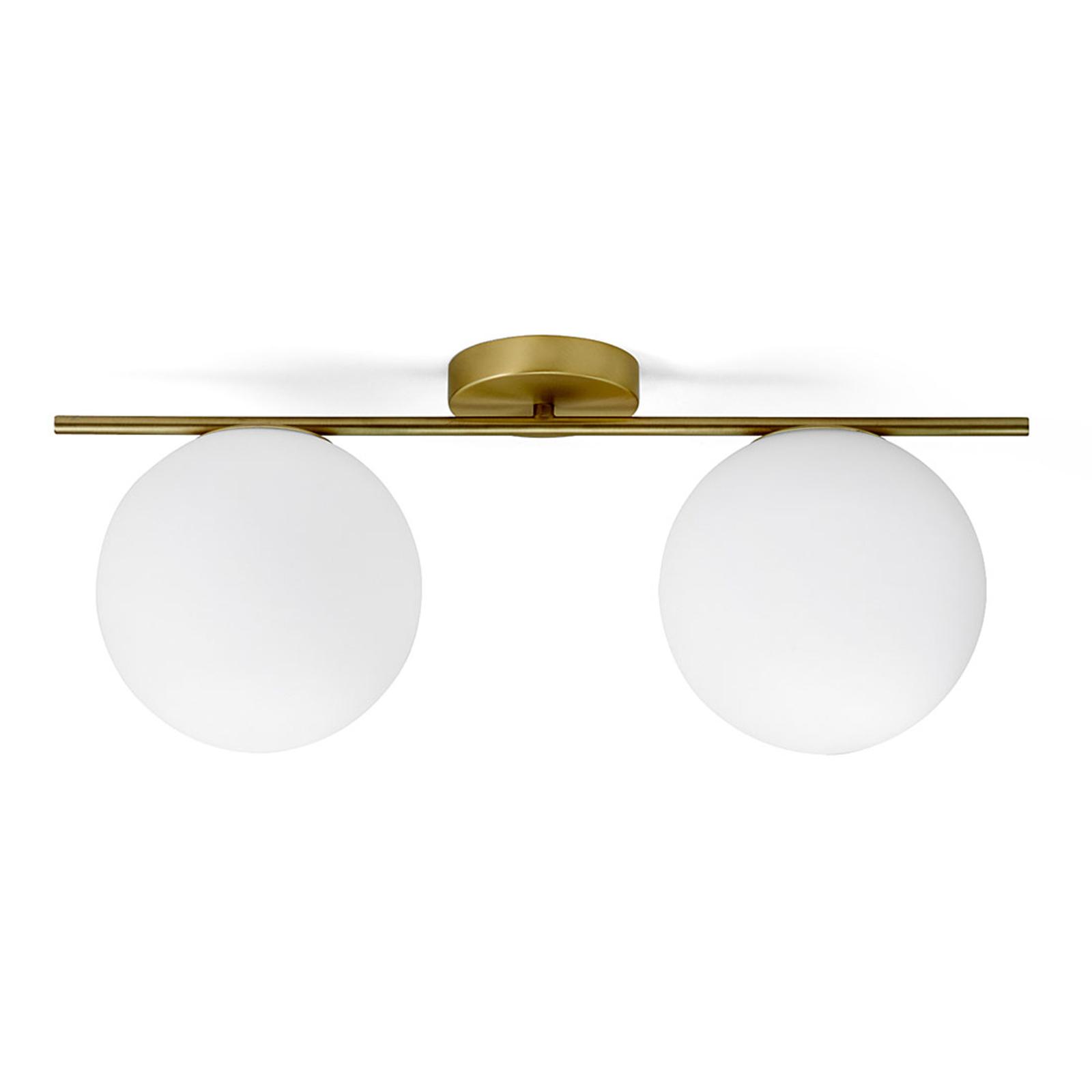 Messing-plafondlamp Jugen 2-lamps horizontaal