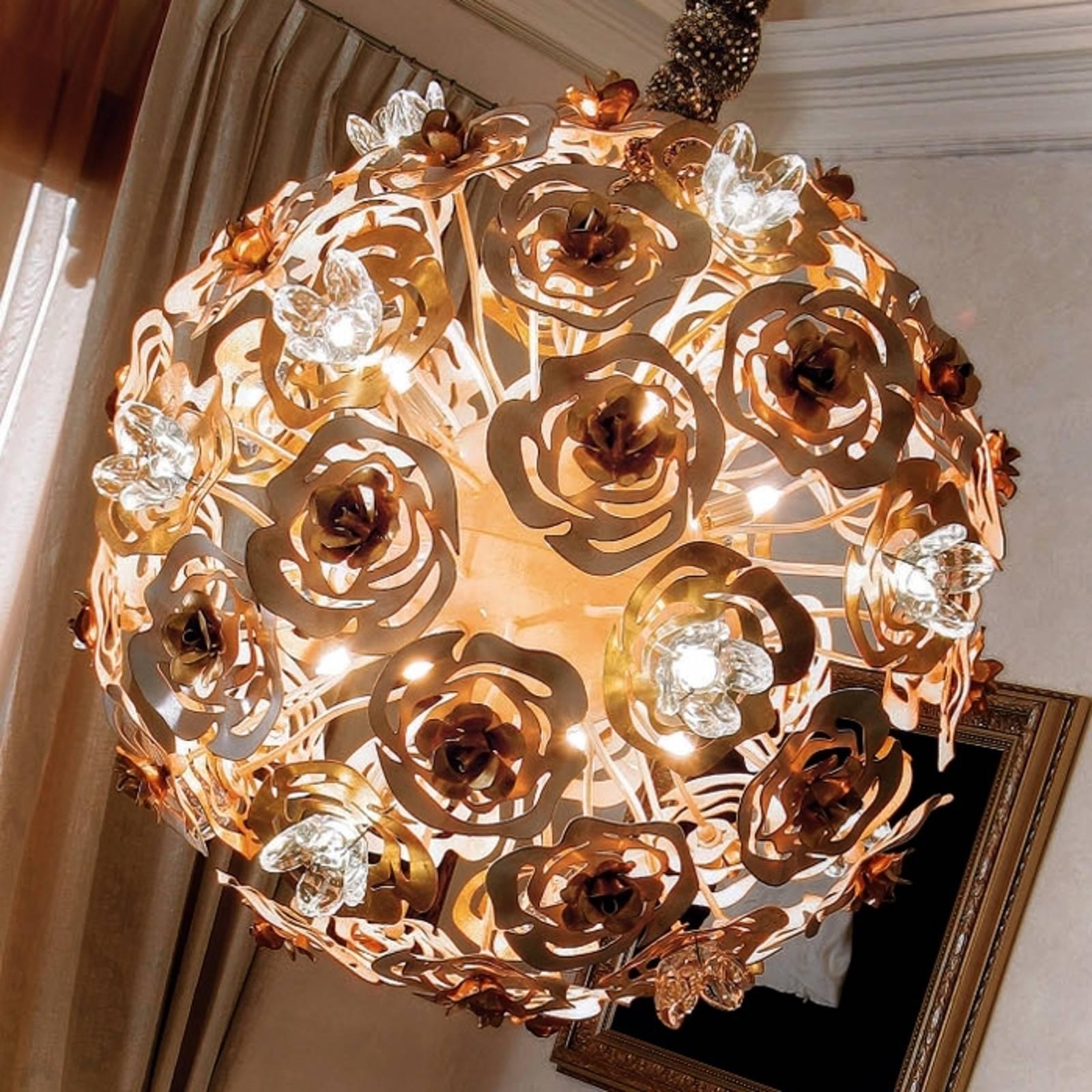 Kunsztowna lampa wisząca LED VIE EN ROSE