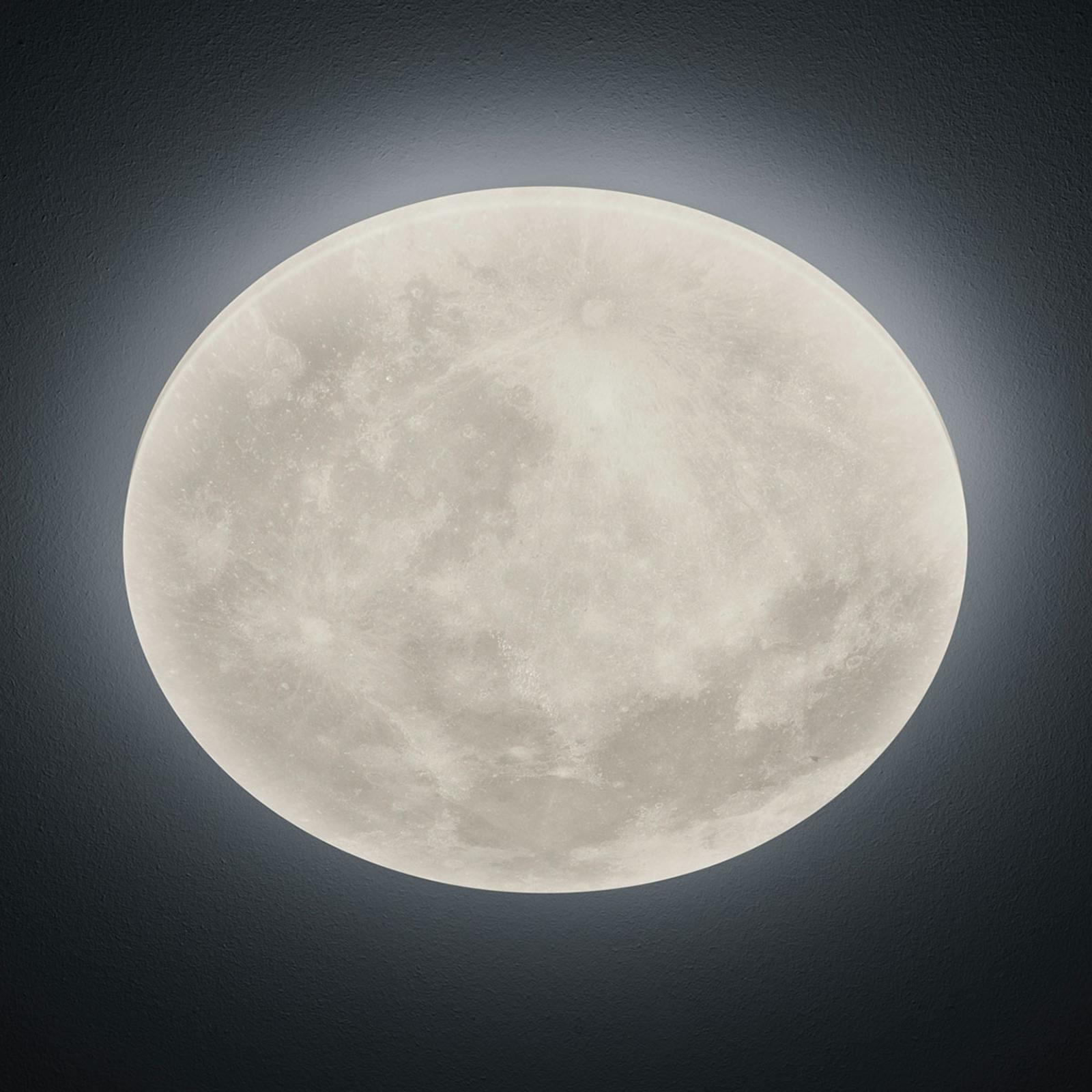 LED-loftlampe Lunar med fjernbetjening 40cm