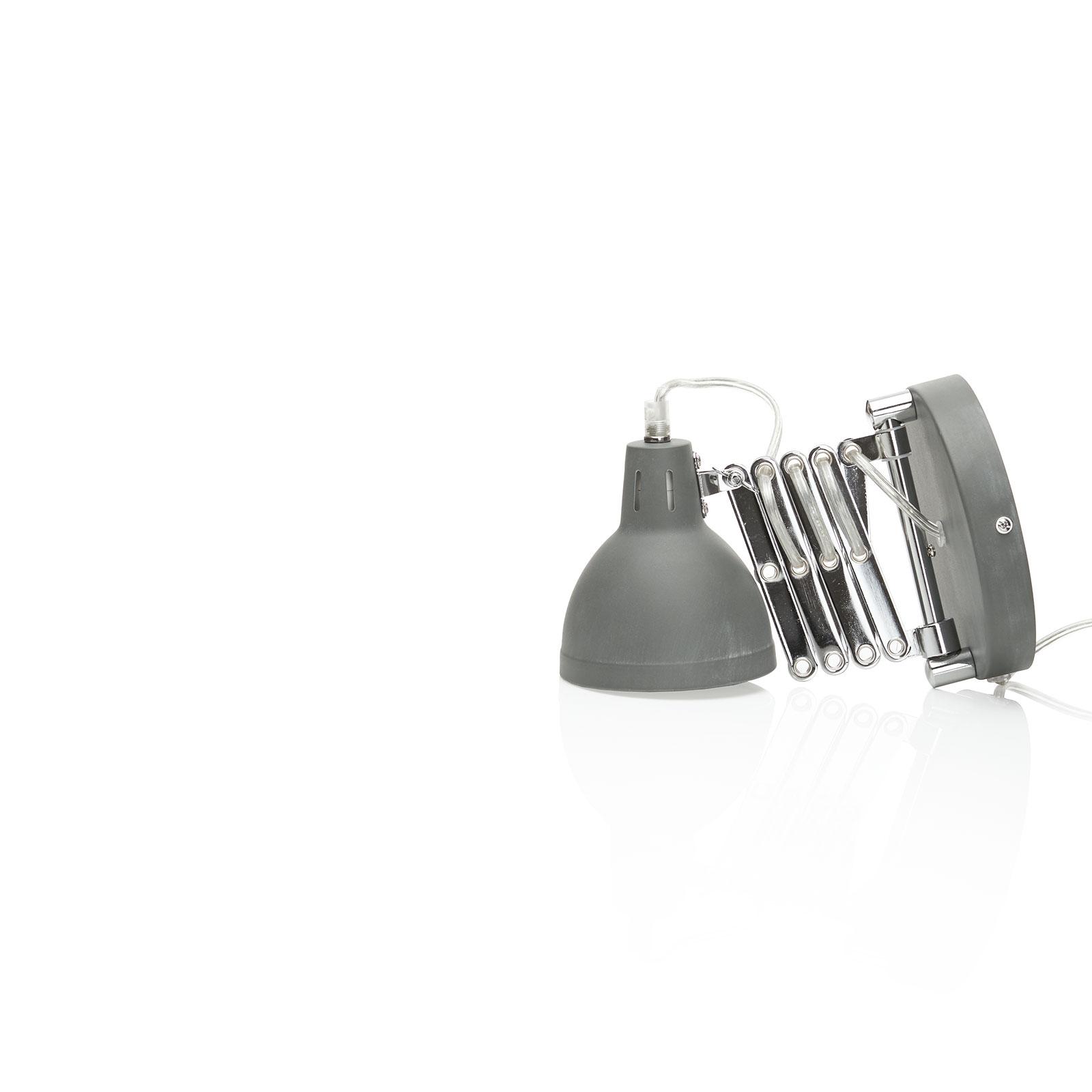 Nástěnné světlo Scissor tahací harmonika beton