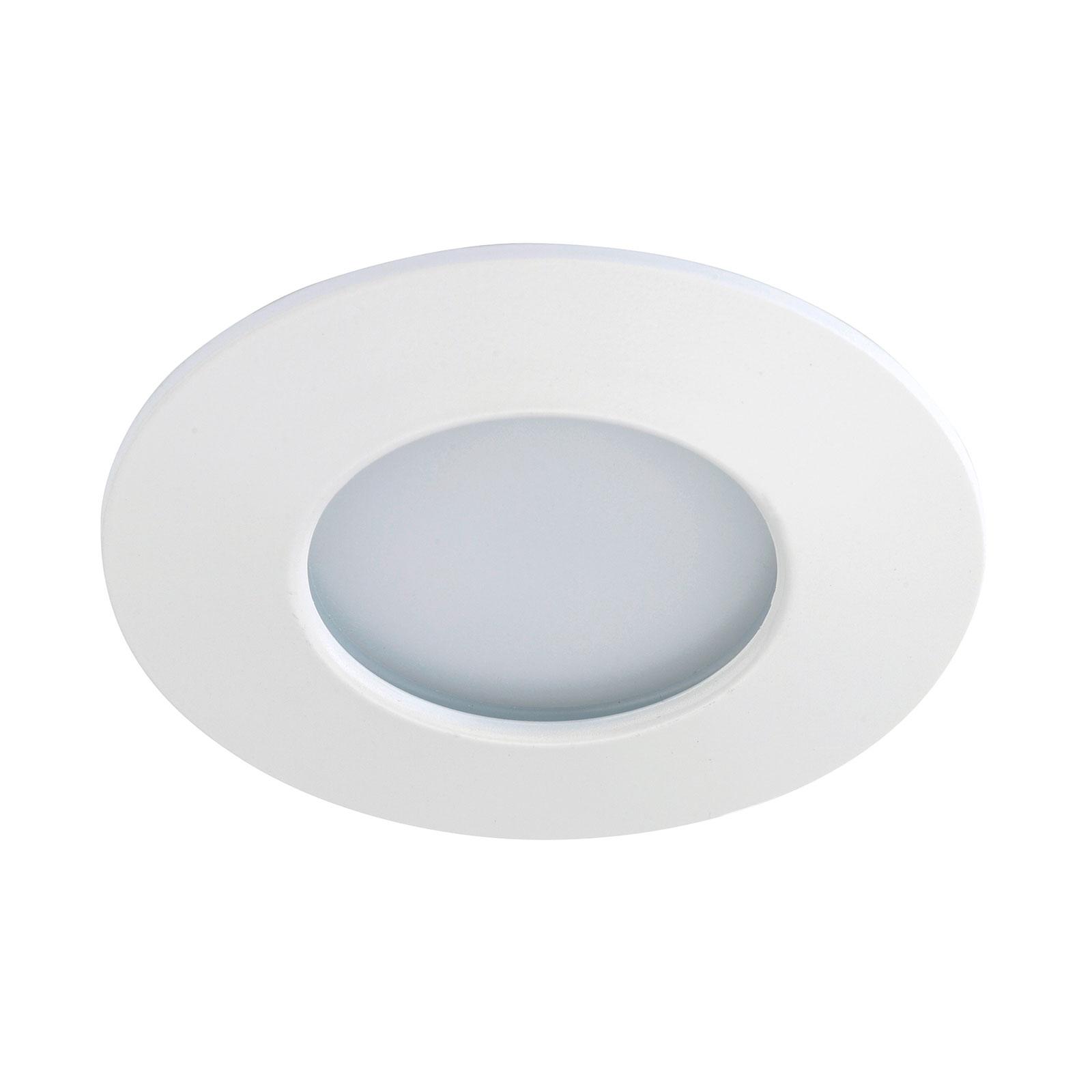 Lámpara empotrada LED blanca Till para exteriores