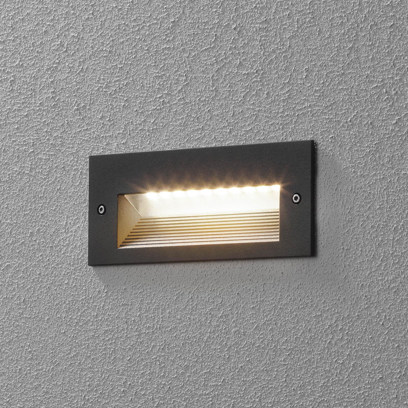 BEGA 33053 LED-veggmontering 3000K grafitt 17 cm