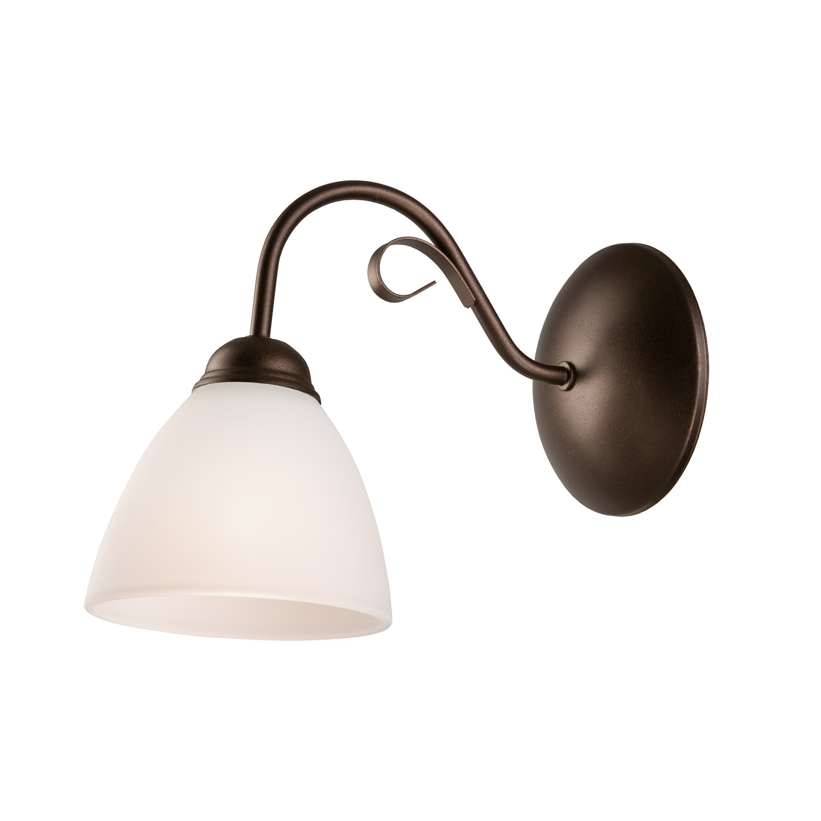 Adoro væglampe med glasskærm, brun