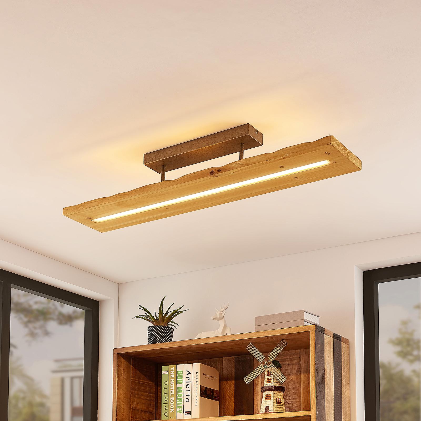Lindby Nesaja -LED-kattovalaisin puuta