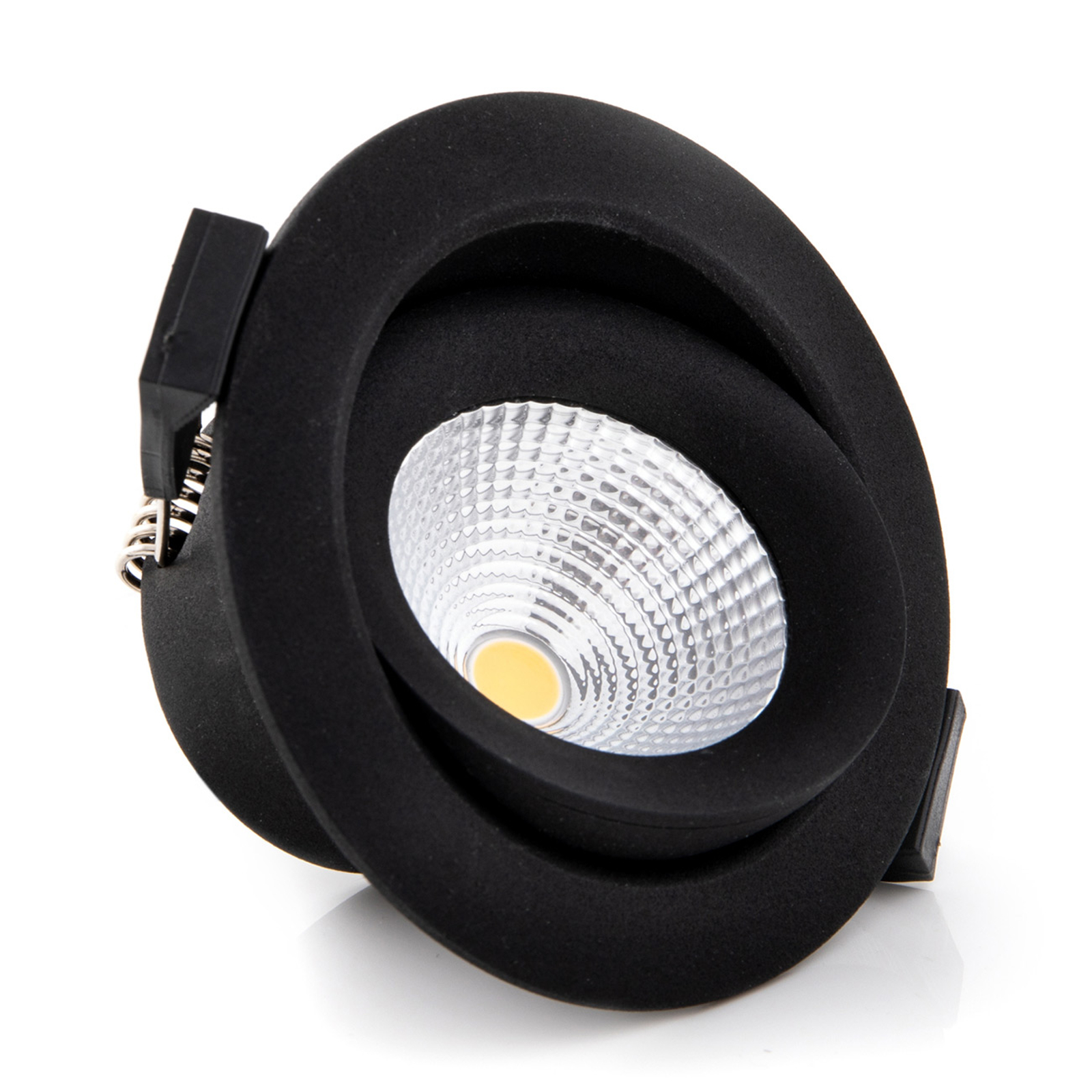 One 360° SLC spot incasso LED nero 2.700K