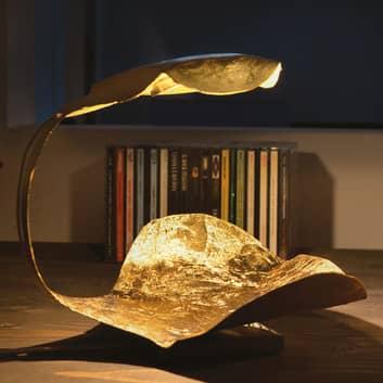 Kultainen Gi.Gi-LED-design-pöytävalaisin