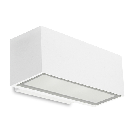 LEDS-C4 Afrodita Außenwandlampe, down, weiß