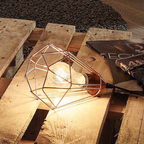 Lámpara de mesa vintage Tarbes acabado en cobre