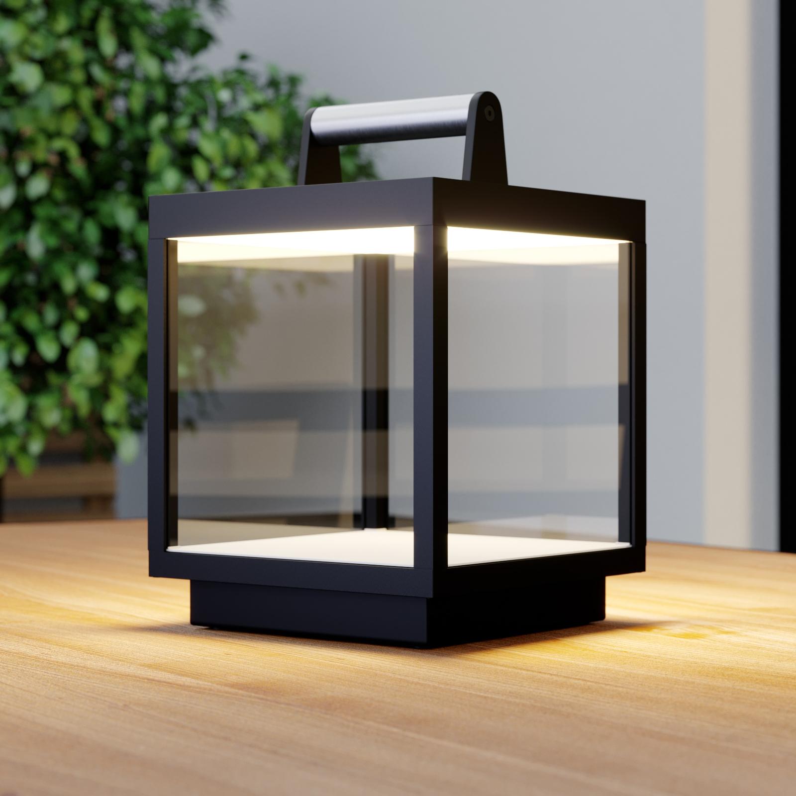 LED tafellamp Cube voor buiten, oplaadbaar