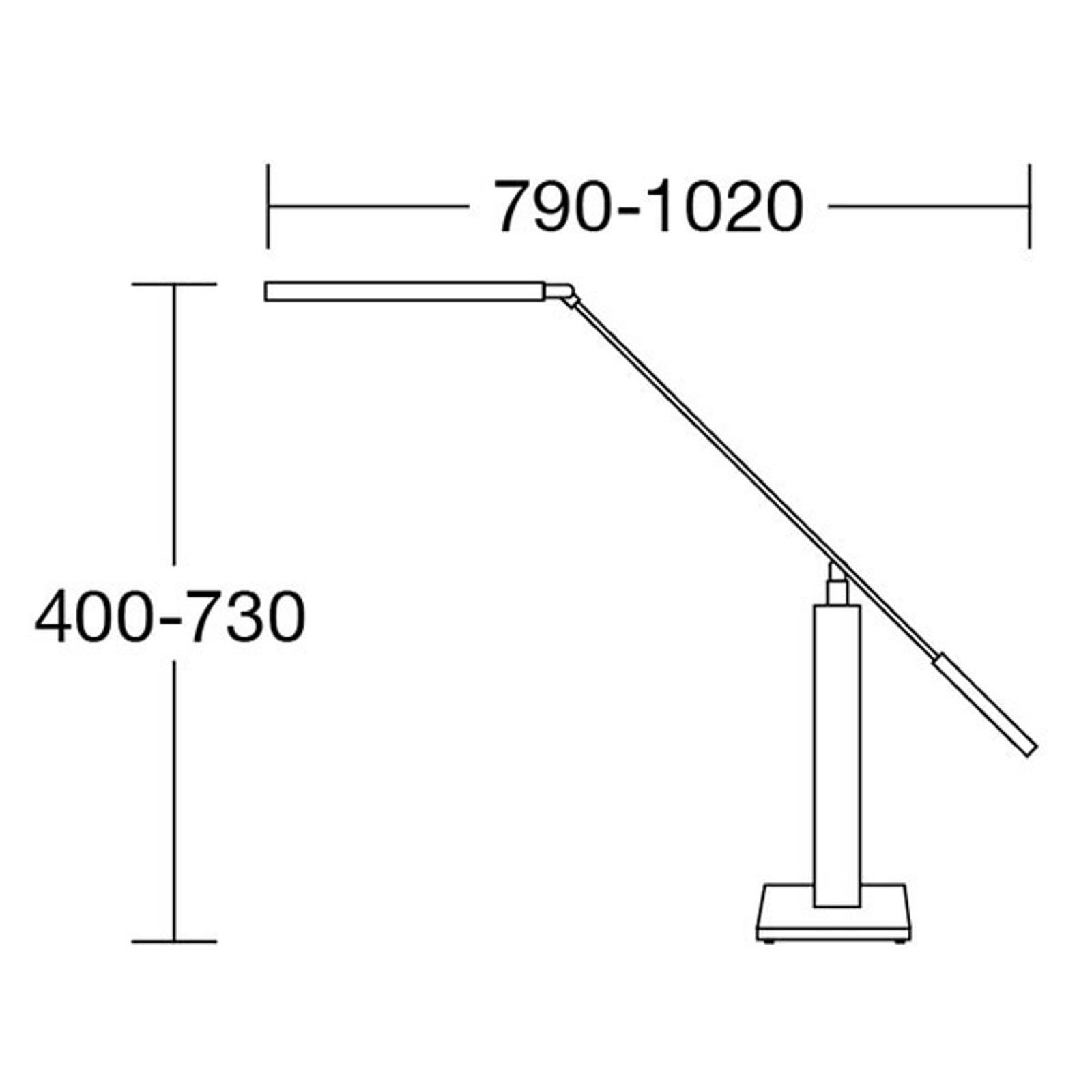 HerzBlut Otto O LED tafellamp eiken natuur