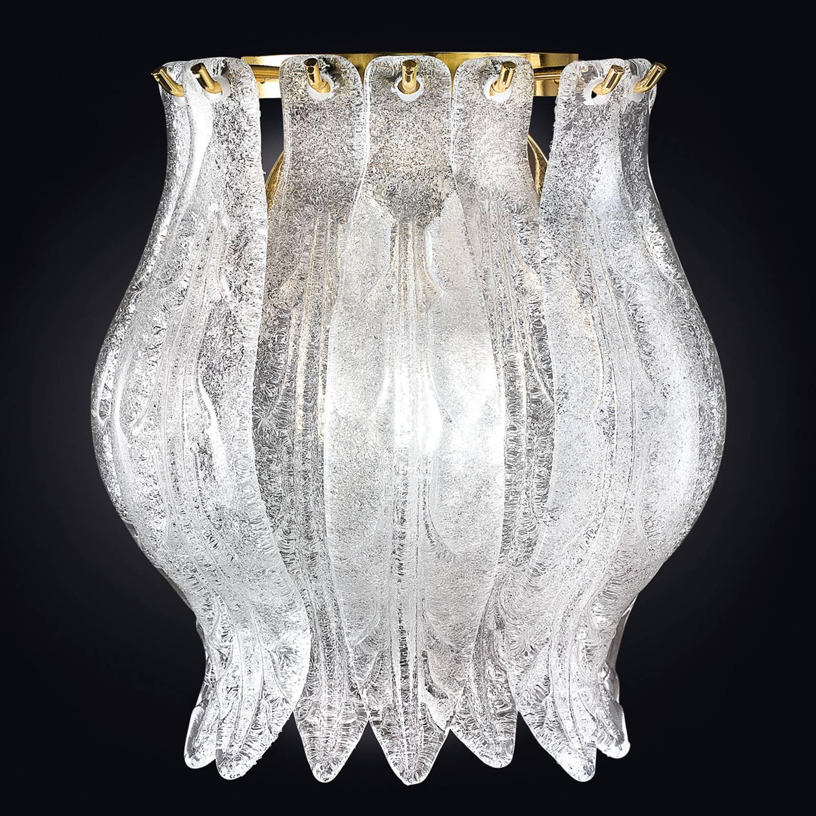 Wandleuchte Petali mit Muranoglas 19 cm