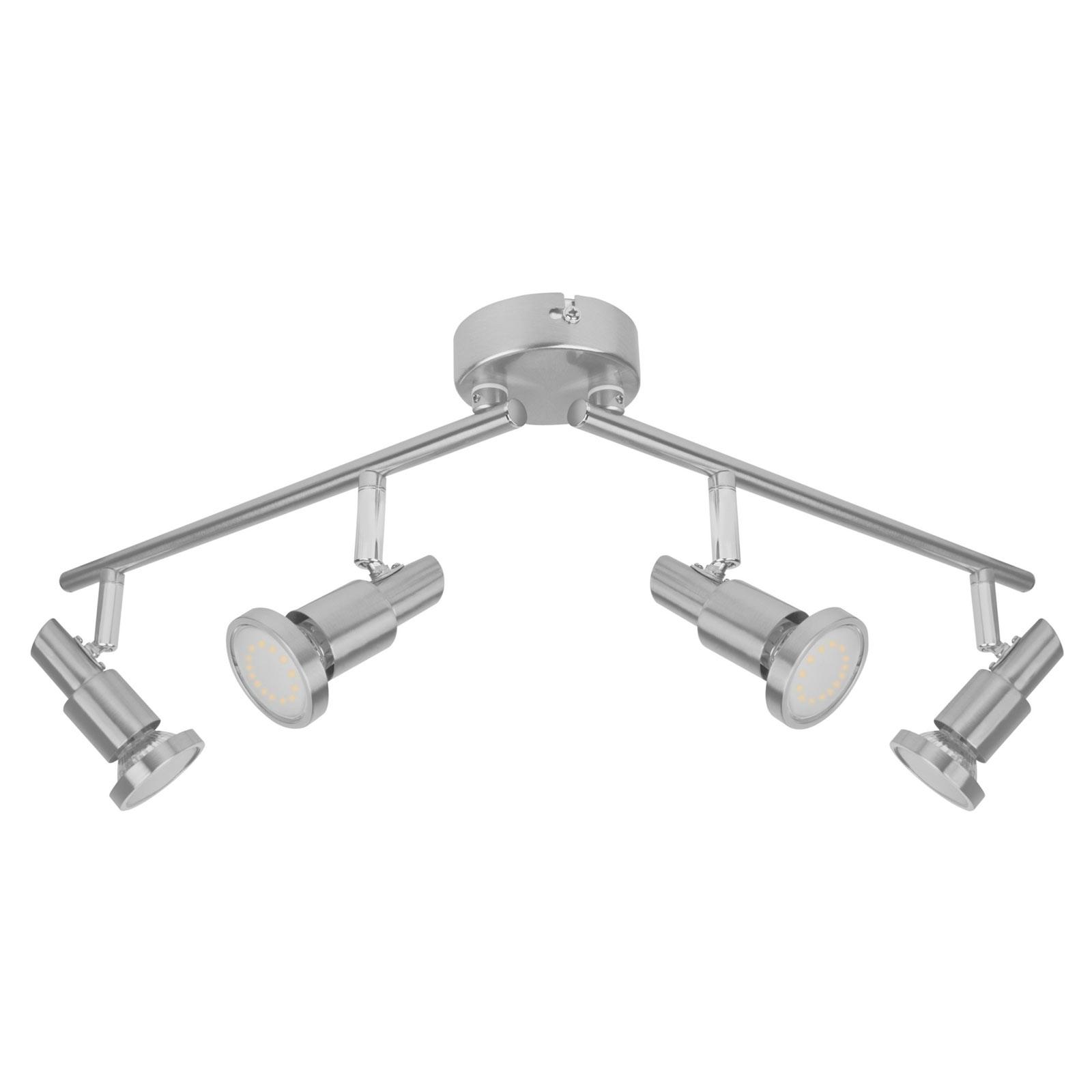 LEDVANCE Niclas LED spot, nikkel, 4-lamps