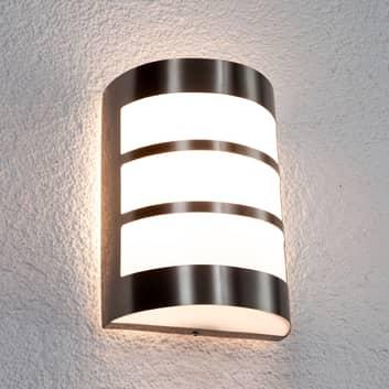 Lampa zewnętrzna Kristian z paskami, stal szl.