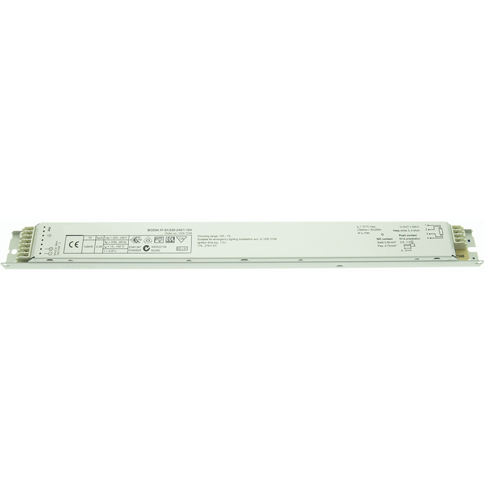BE dimmable 1x54W T5 BCD54.1F-01/220-240/1-10V