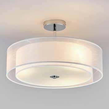 Lampa sufitowa LED PIKKA z białym abażurem