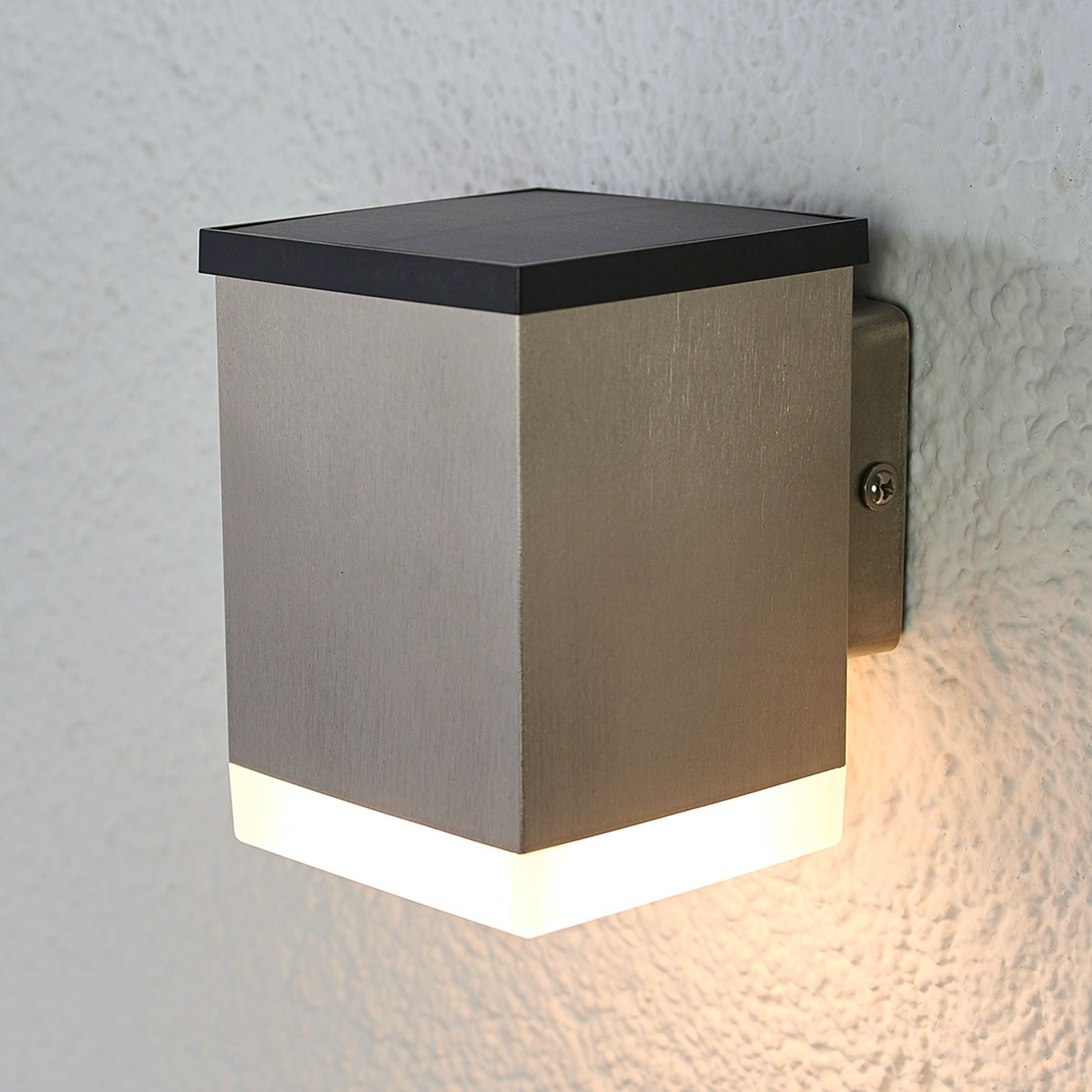 LED wandlamp Tyson hoekig gesatineerd