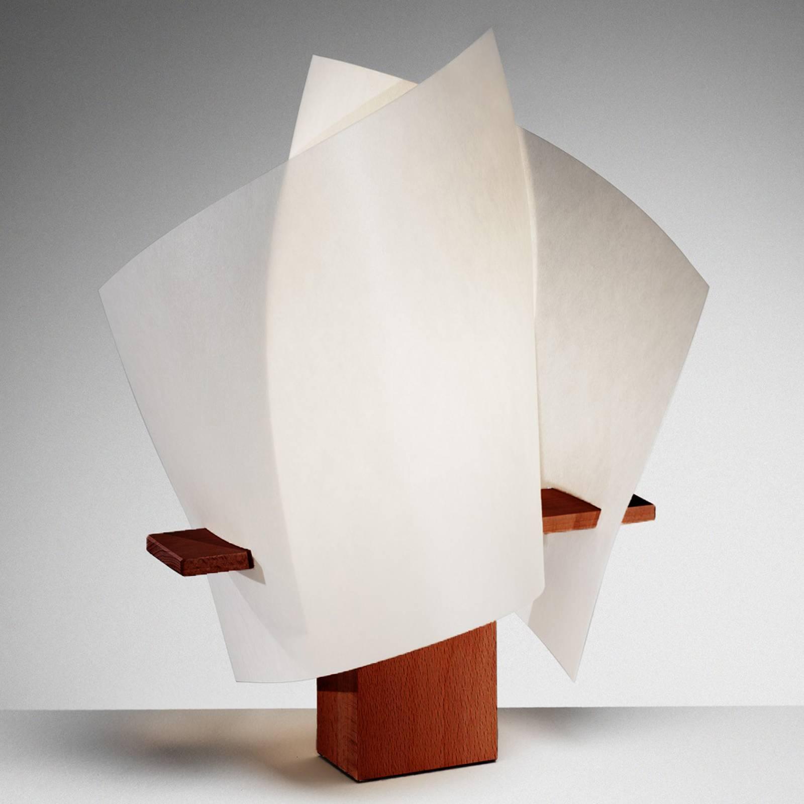 Designer tafellamp PLAN B, maron
