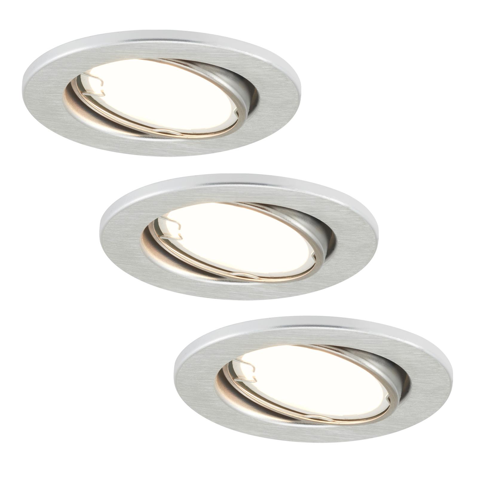 LED-Einbauleuchten 7221-039 Fit 3er-Set in Alu