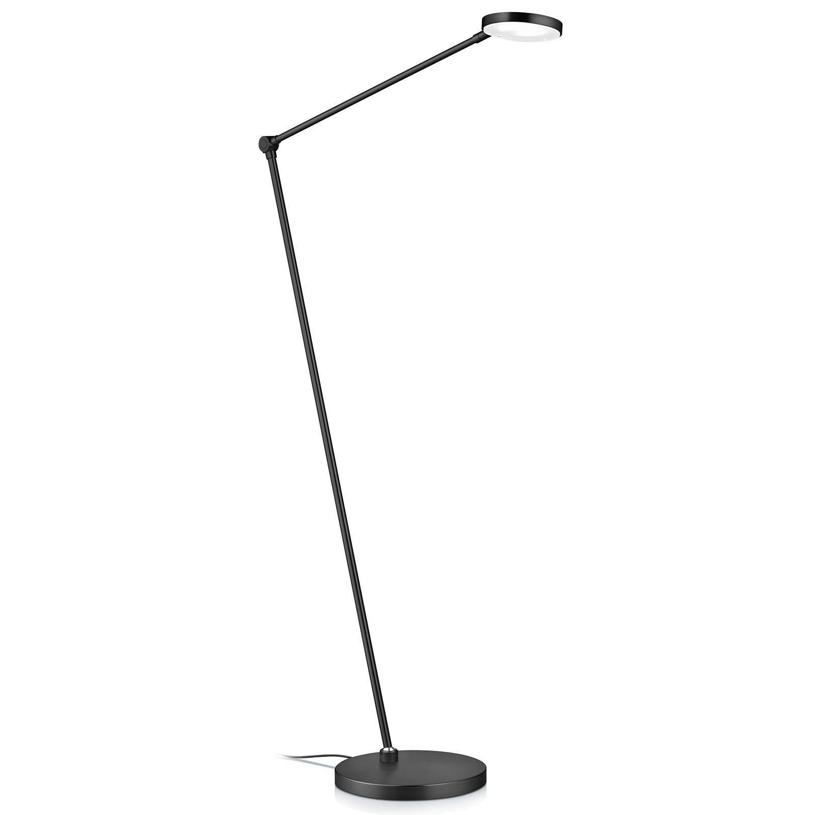 LED vloerlamp Thea-S gebarenbediening, zwart