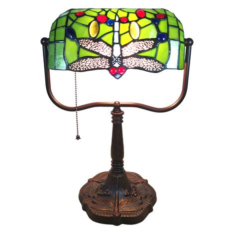 Schreibtischlampe 6012 Tiffany-Stil, Libellendekor