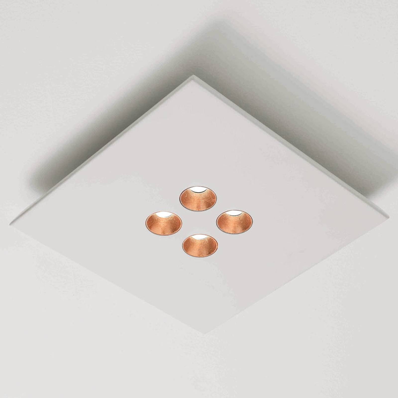 ICONE Confort - LED plafondlamp, wit-koper