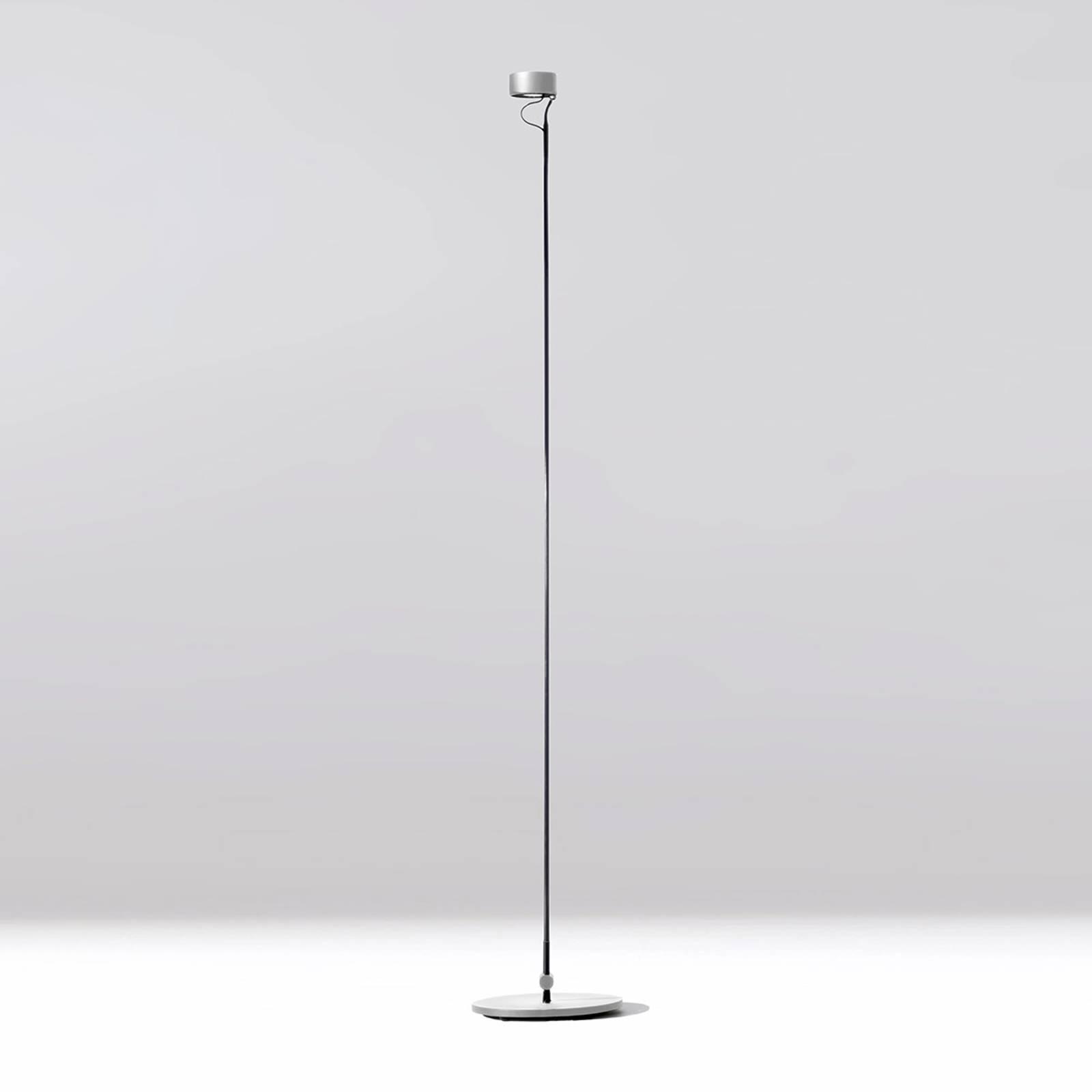 Bilde av Basica 930 B Led-gulvlampe, Fleksibel I Sølv