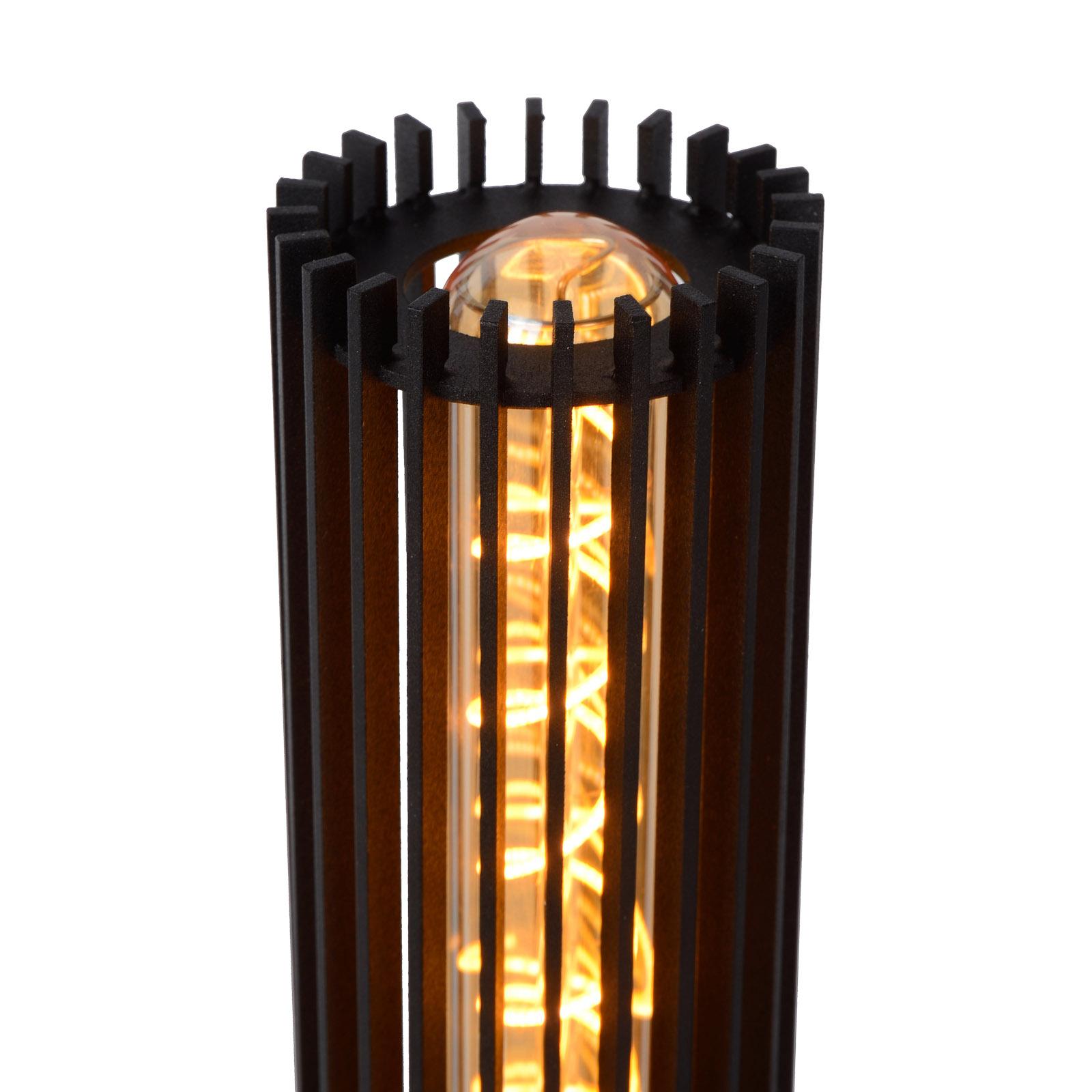 Tafellamp Lionel van metaal in zwart