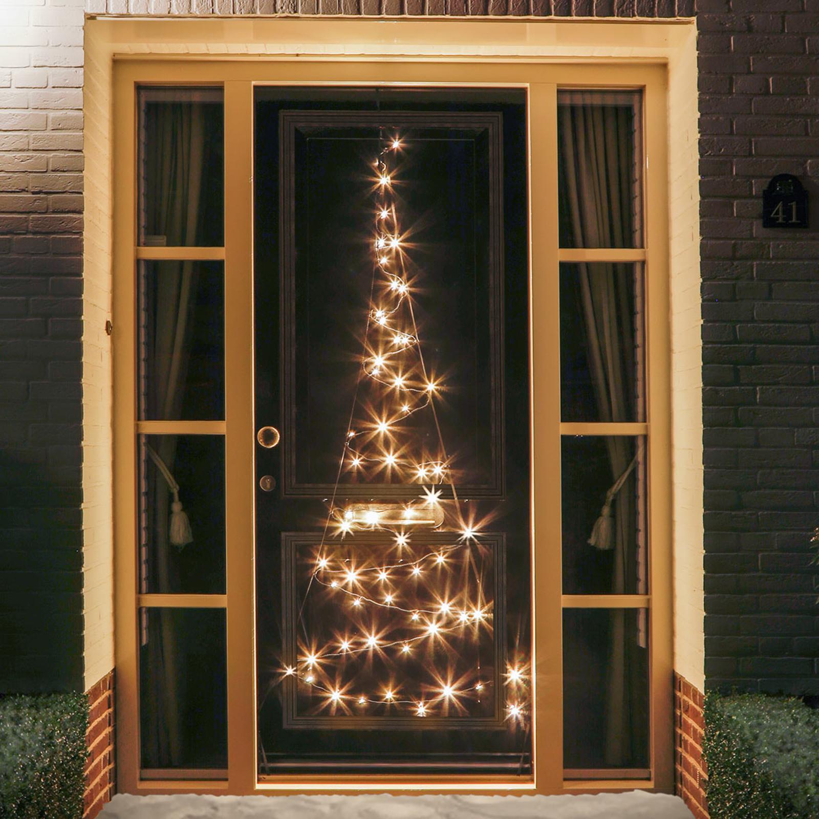 Silhouette sapin de porte Fairybell® 60 LED