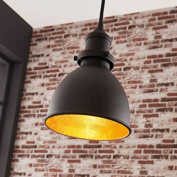 Zwarte hanglamp Jasminka, industriële stijl