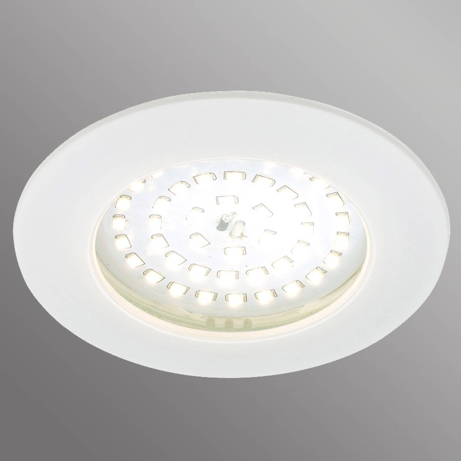 Spot encastré LED blanc Carl pour l'extérieur