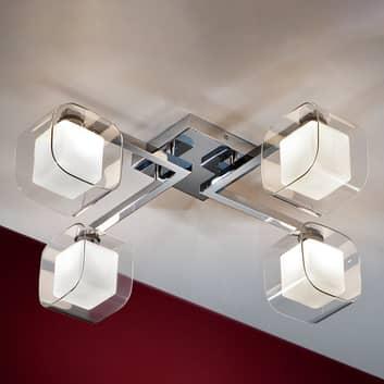 Cube: lámpara LED de techo con 4 pantallas dobles