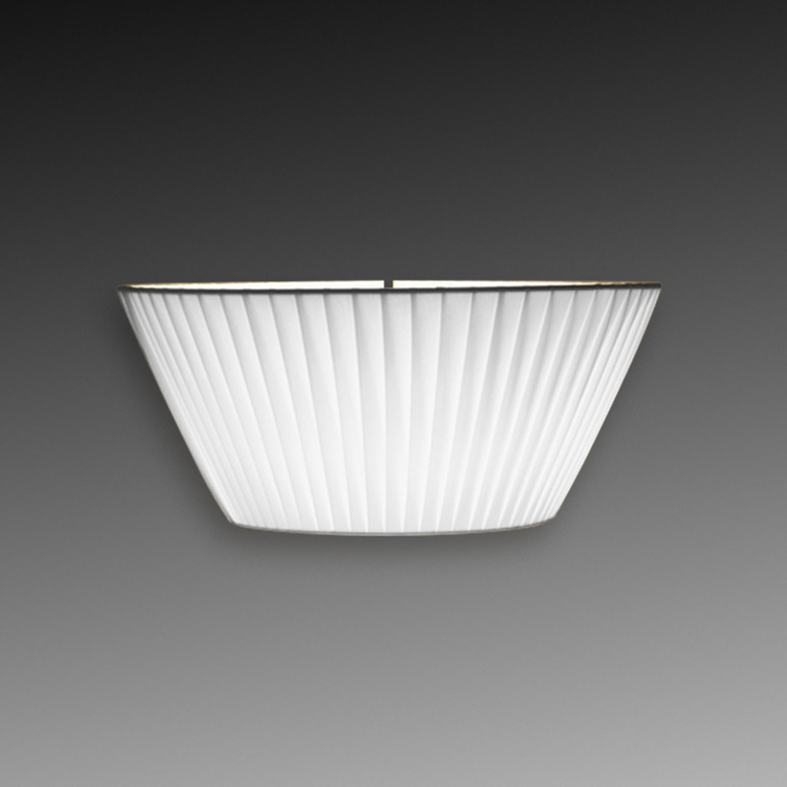 Opvallende wandlamp Emma, 30 cm breed, wit