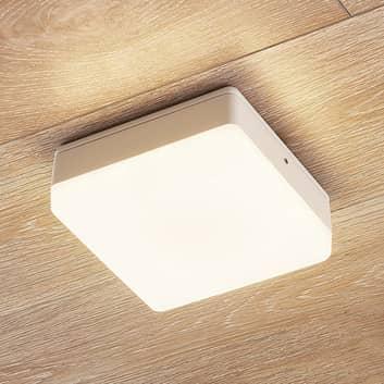 LED-taklampa Thilo, IP54, vit, 16 cm, TL-sensor