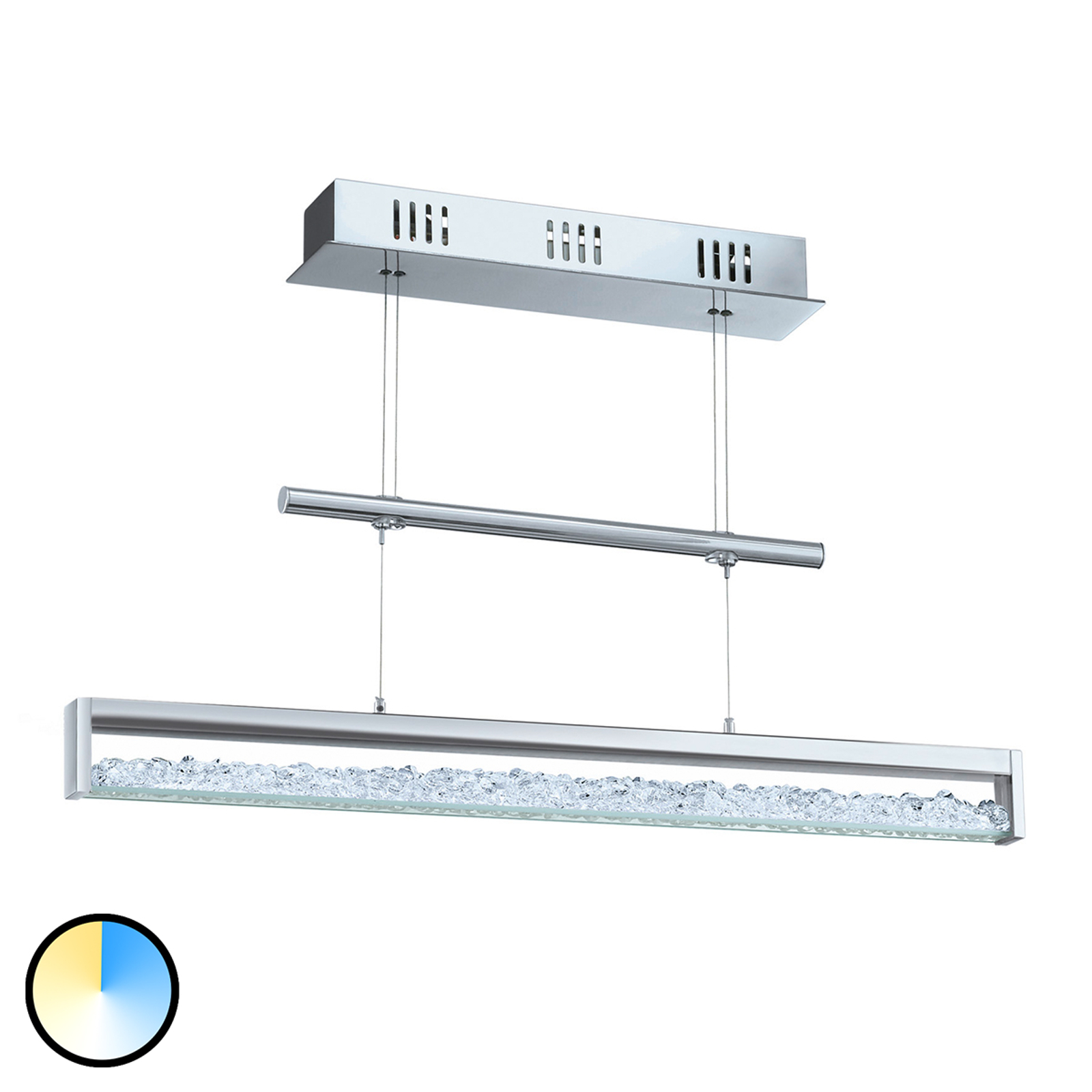 Lampada LED a sospensione Cardito 1 70 con dimmer