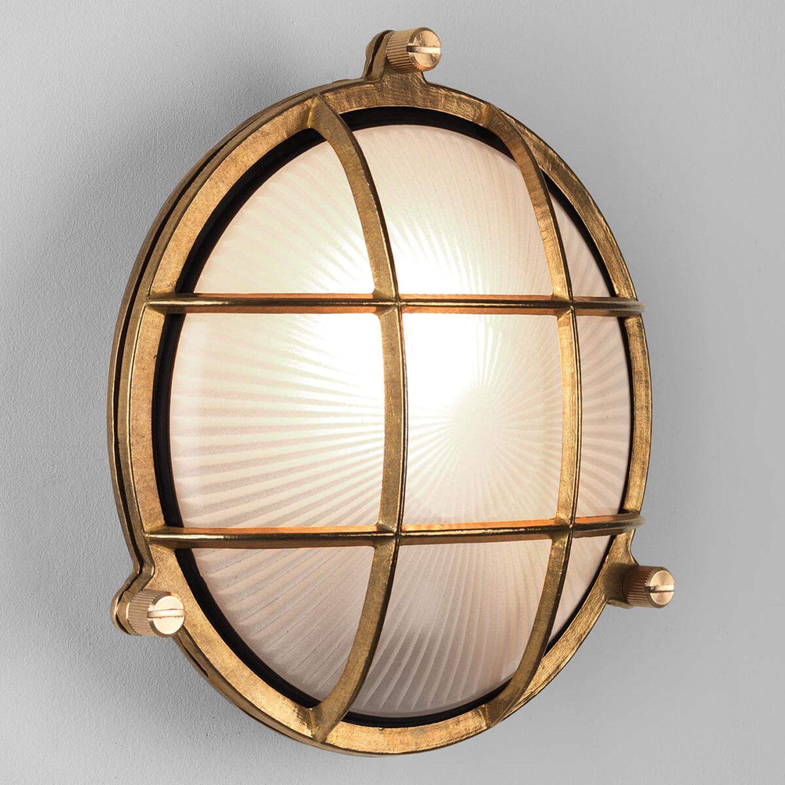 Astro Thurso Round venkovní nástěnné světlo mosaz