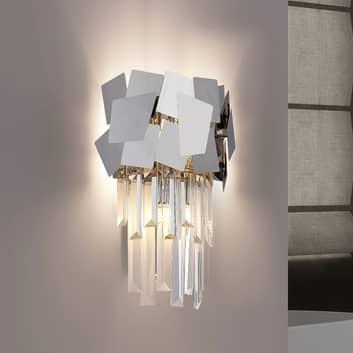 Lucande Miraia křišťál nástěnné světlo zrcadlené