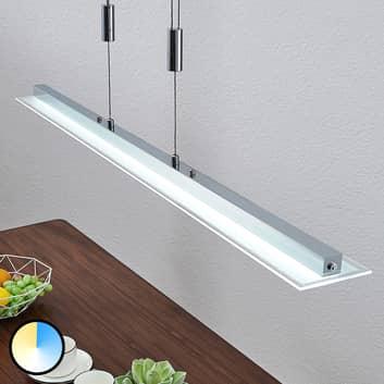 LED-Balkenpendellampe Sladja mit Touchdimmer