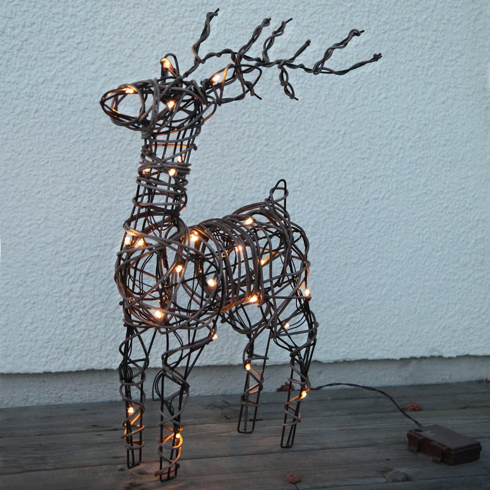 """*NEU*: Deko-Figur Rentier """"Deer"""" aus Polyrattan, braun"""