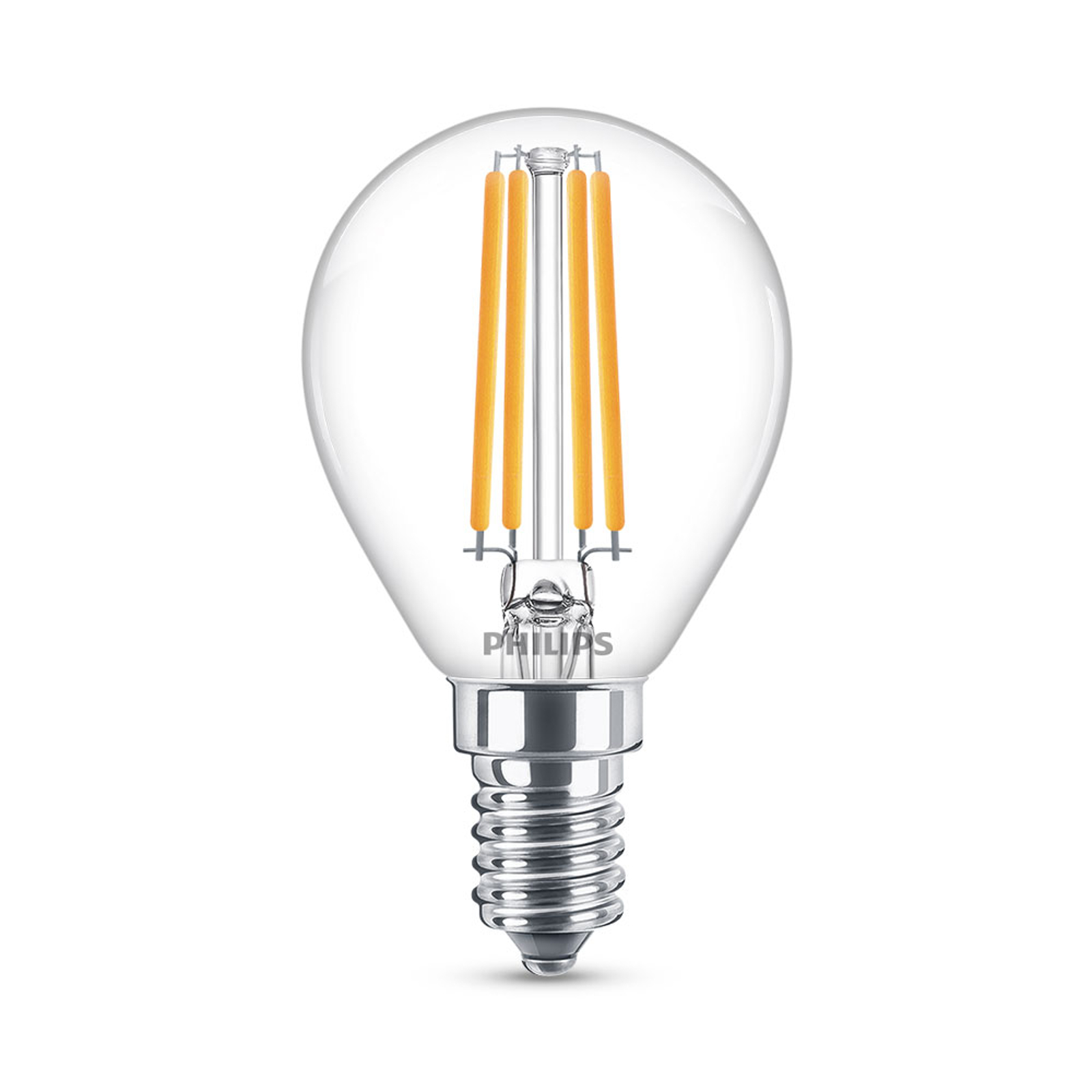Philips Classic LED-Lampe E14 P45 6,5W klar 4.000K