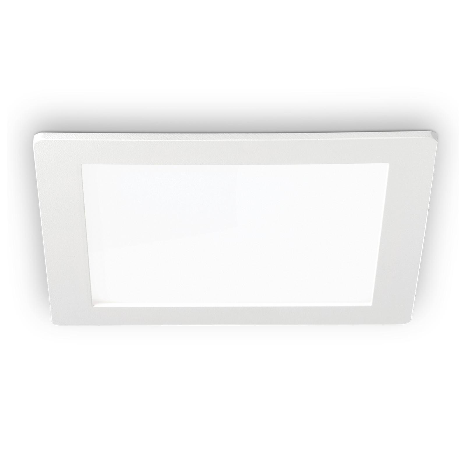 LED-Deckeneinbauleuchte Groove square 22,7x22,7 cm