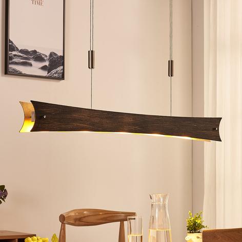 Dimmbare LED-Hängeleuchte Ebba, schwarz-gold