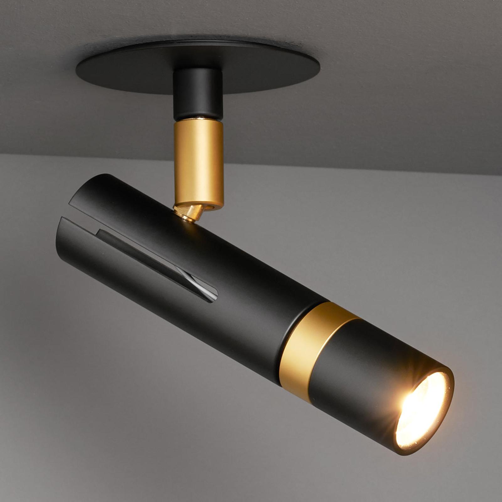 LDM Kyno LED-Spot Deckenhalter Einbau schwarz/gold