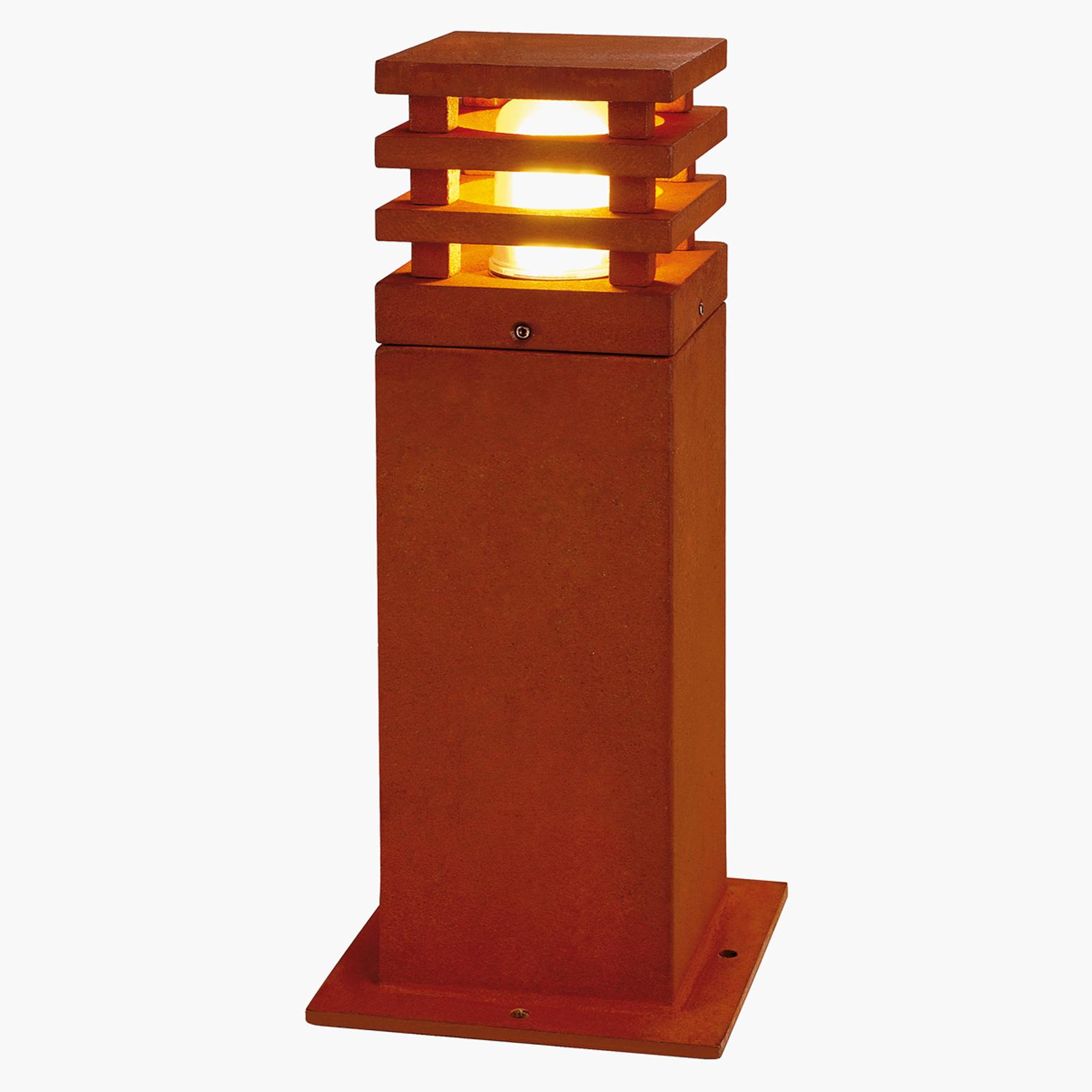 Lampada con piedistallo alta qualità Rusty Square